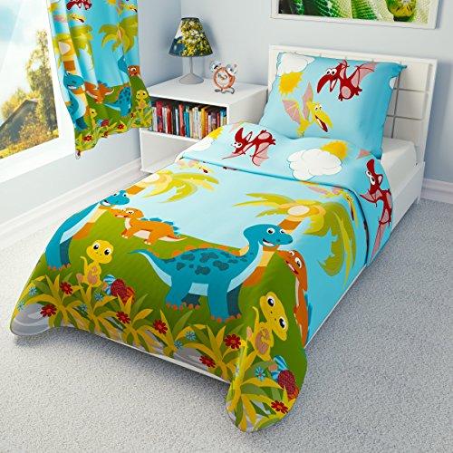 Babies Island IKEA Kinder-Bettwäsche, Bettbezug, Kissenbezüge 110x 125cm–Viele Designs erhältlich (Kleine Dinosaurier)
