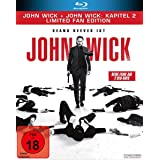 John Wick + John Wick: Kapitel 2 - Limited Fan Edition (2 Blu-rays in veredelter O-Card) [Blu-ray]