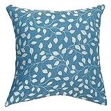#9: Linenwalas Premium Italian Design Yarn Dyed Leaf Print Cushion Cover (set of 5) -