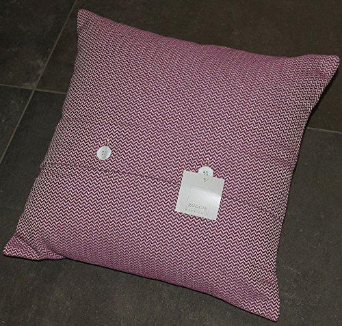 By perlarara - copri cuscino arredo zucchi cm 40x40 sfoderabile con bottoni in madreperla cuscini letto divano mod. leandro (col.1 spigato viola)