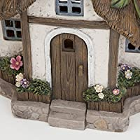 Bits and Pieces - Solar Fairy Cottage - Make Your Magical Fairy Garden House Come To Life In Your Garden - Unique Outdoor Lawn and Garden Décor