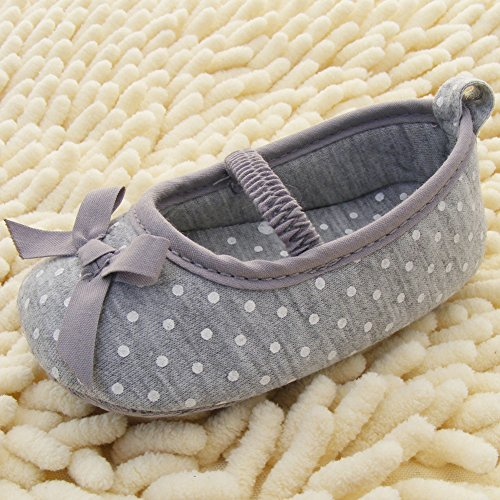Etosell Bebe Filles Toddler Coton Bowknot Chaussures 0-18 M Gris