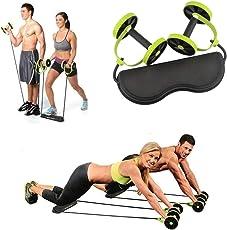 REAL CRAZE Total Body Fitness Revoflex Xtreme Abs Trainer Resistance Exerciser/Push Up Bar/Ab Wheel Roller/Power Strech Roller/Abdominal Trainer