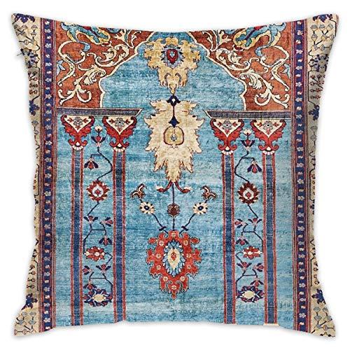 Sotyi-ltd Antike Persische Seide Teppich Home Dekorative Überwurfkissen Kissenbezug für Zuhause Couch Bett Auto 45,7 x 45,7 cm -