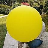 GuassLee 5 Riesenballons 36 Zoll Runde Latex Big Ballon Große Dicke Ballons Foto Shooting / Geburtstag / Hochzeit / Engagement / Festival / Event / Karneval Dekorationen Gelb