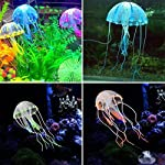 This is a beautiful and life-like artificial jellyfish to decorate your fish tank. It has glowing effect, so it will look more beautiful in the dark. This jellyfish is great ornament for your aquarium. Description: Its simple imitation of jelly fish ...
