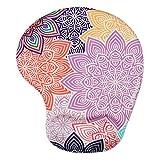Mouse Pad rilievo di polso poggiapolso, Lizimandu Mouse Pad- base antiscivolo in gomma - trattato speciale tessuto Tessuto(Fiore colorato/Colorful Flower) immagine