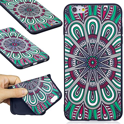 BONROY® Apple iPhone 6 / 6S Plus Coque Housse Etui,Fashion Belle Ultra-Mince Thin Soft Silicone Etui de Protection pour Souple Gel TPU Bumper Poussiere Resistance Anti-Scratch Case Cover Couverture Po datura