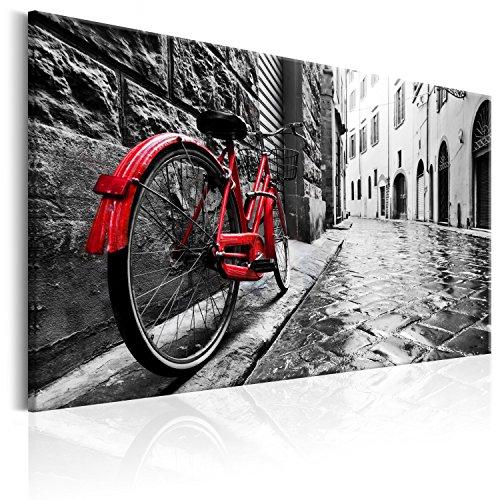 murando Cuadro 90x60 cm - Vintage impresión en Material Tejido no Tejido artística fotografía Imagen gráfica decoración de Pared Bicicleta d-B-0080-b-b