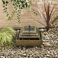 Smart Solar ardesia naturale a fontana solare fontana - Ardesia Outdoor Patio