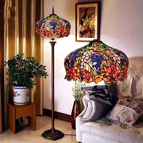 Uncle Sam LI- European Senior Glasmalerei Lampen Cafe Retro Wohnzimmer Stehleuchte Schlafzimmer Lampe kreative (Glasmalerei Tiffany-stil-lampe)