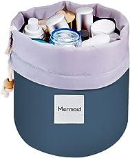 Mermaid Cosmetici Borsa da Viaggio Beauty Case da Viaggio Portatile Multifunzionale Con Coulisse Pouch Storage Borsa Trucco Cosmetici Organizzatore Toilette Borsa da Viaggio (blu)