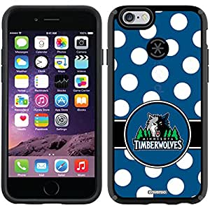 Coveroo CandyShell Cell Phone Case for iPhone 6 - Retail Packaging - Minnesota Timberwolves Polka Dots