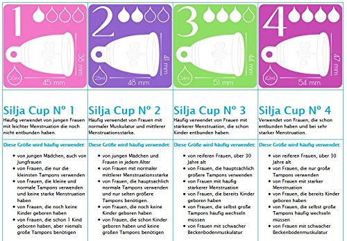 Silja Cup Menstruationstasse made in Germany aus 100% medizinischem Silikon / Nº2 RING - 4