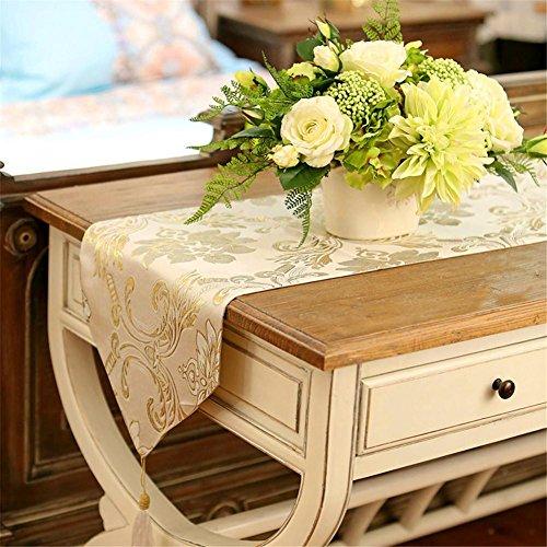 Preisvergleich Produktbild XXFFH Tischläufer Europäischen Luxus Tischläufer Gehobenen Jin Siti Blumen Von West Tischtuch , A , 33*200Cm