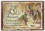 Geschenk Steuerberater Finanzberater Blechschild 30 x 20 cm