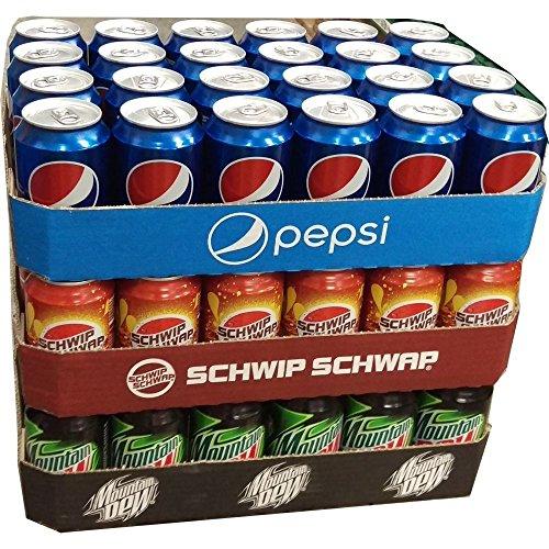 Pepsi Cola, Schwip Schwap & Mountain Dew Classic je 24 x 0,33l Dose XXL-Paket (72 Dosen gesamt)