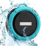 ULTRICS® Bluetooth Lautsprecher, Portable Wireless Outdoor / Duschlautsprecher IPX4 Wasserdicht CE ROHS FCC Bluetooth 4.0 Zertifizierte Technologie Eingebautes Mikrofon - Blau - 100% Zufriedenheit garantiert