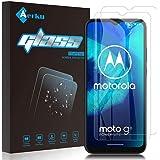 Aerku för Motorola Moto G8 Power Lite skärmskydd [2 pack] HD 2.5D skärmskydd i härdat glas [reptålig/fingeravtryck] skärmskyd