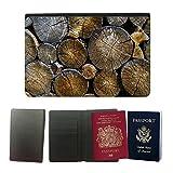 Muster PU Passdecke Inhaber // M00421557 Rundholz Schnittholz Bauholz Holz // Universal passport leather cover