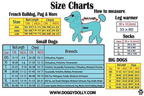 Doggy Dolly W109 Hundejacke Wasserabweisend mit Kapuze, schwarz/grau, Wintermantel/Winterjacke, Größe : XXS - 2