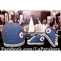 Bootie stile Converse set con cappello di corrispondenza, di lana