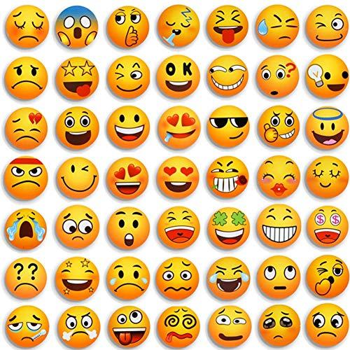 Emoji Magnete Kühlschrankmagnete Dekorative Küche Fridge Locker Magnettafel Eisen Büro Kleinkinder und Erwachsene Geschenk 54 Pcs