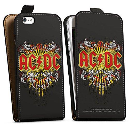 Apple iPhone 7 Plus Silikon Hülle Case Schutzhülle ACDC Danger Offizielles Lizenzprodukt Downflip Tasche schwarz