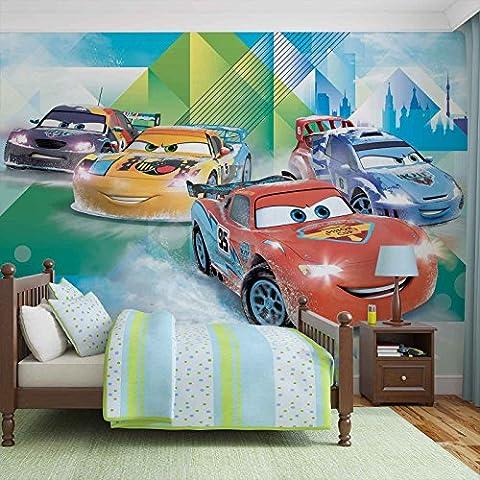 Disney Cars Lightning McQueen Camino - Wallsticker Warehouse - Fototapete - Tapete - Fotomural - Mural Wandbild - (3211WM) - XL - 254cm x 184cm - Papier (KEIN VLIES) - 2