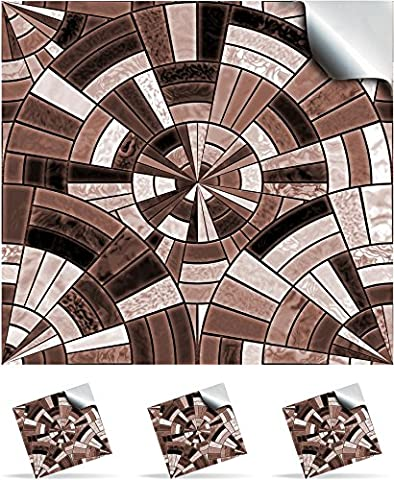 2 Chocolate Cake - Self Adhesive Mosaic Wall Tile Decals For 150mm (6 inch) Square Tiles –(P11)- Realistic Looking Stick On Wall Tile Transfers Directly From the Manufacturer: TILE STYLE DECALS, No Middleman -- Peel and Stick on Tile to Transform your Kitchen, Bathroom – Oil-proof, Waterproof Tile Stickers, Heat Resistant Sticks on tile kitchen tiles stickers / Bathrooms Tile Stickers (Pack of 2, Chocolate Cake)