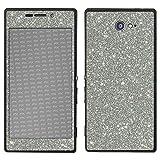 atFolix Sony Xperia M2 Skin FX-Glitter-Sterling-Silver Designfolie Sticker - Reflektierende Glitzerfolie