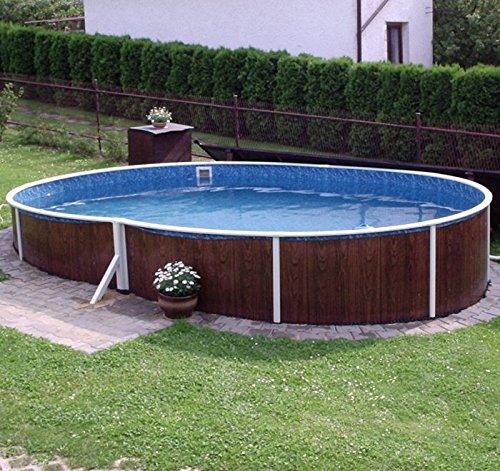 Swimming pool kit 18x12ft oval garden rattan furniture for Garden swimming pool kits