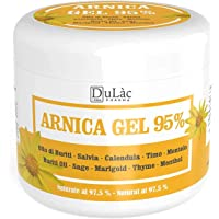 Arnica Per Cavalli Uso Umano 500 ml Dulàc Made in Italy, Arnica Gel Forte 95% di Arnica Montana, Arnica Forte arricchita…