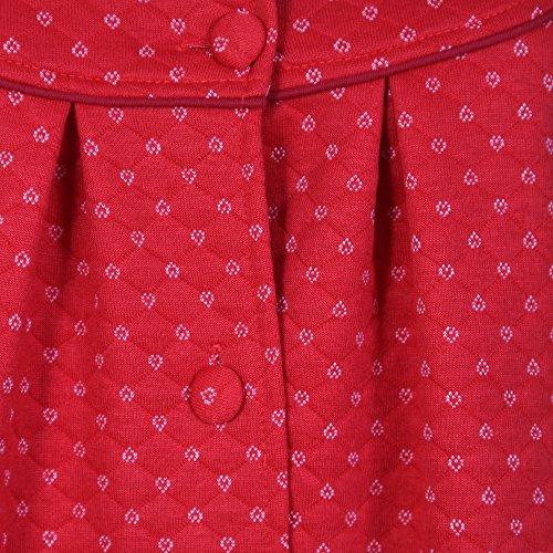 Storelines Damen Morgenmantel Rot
