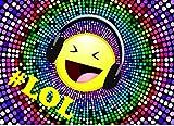 Emoji Smiley Einladungskarten 10 Stück für Kindergeburtstag im Set LOL # Geburtstags-Party für Jungen und Mädchen. UV-Veredelt
