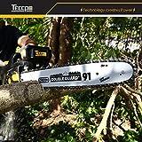 Elektrische Kettensäge, 2400W TECCPO Kettensäge, Schnittlänge 40 cm Oregon Kette und Schwert, Kettensäge Geschwindigkeit 15m/s, doppelte Sicherheitsschalter und mechanische Bremse - TACS01G für Elektrische Kettensäge, 2400W TECCPO Kettensäge, Schnittlänge 40 cm Oregon Kette und Schwert, Kettensäge Geschwindigkeit 15m/s, doppelte Sicherheitsschalter und mechanische Bremse - TACS01G