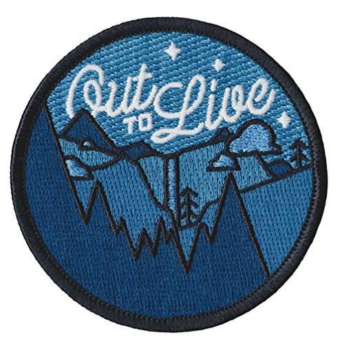 Out To Live Patch–7,6cm Zoll–Outdoor Thema Bäume Fluss Logo National Park Series gesticktes Eisen/Nähen auf Badge DIY Applikationen von Athena ()