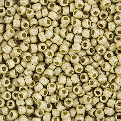 Toho 6/0 Perlen PermaFinish matt verzinkt -