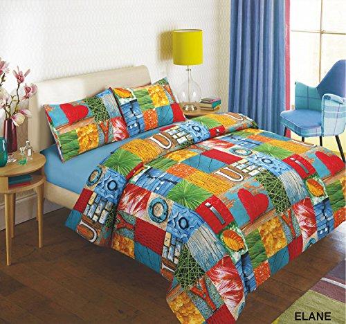 Adam Linens Luxury 3 PCS Duvet Cover Quilt Cover Bed Set wih pillowcases bedding set Floral Double Size Multi Color Elaine