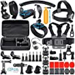 Accessoire Gopro, Gehoiya Kit Gopro Hero 5 Hero 4 3+ 3 2 1 Hero+ LCD Black Silver Session, Kit Accessoires pour WiMiUS/Xiaomi Yi/APEMAN/VicTsing/DBPOWER/Campark/QUMOX SJ4000 SJ5000/Rollei/Lightdow/Sony Action Caméra et La Plupart Des Caméras Sportives, To
