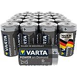 Varta Power On Demand D Mono Batterijen (Verpakking Met 20 Stuks - Smart, Flexibel En Krachtig, Smart Home-Apparaten Of Zakla