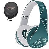 PowerLocus Bluetooth Over-Ear-hörlurar, trådlösa stereo hopfällbara hörlurar trådlösa och trådbundna hörlurar med inbyggd mik