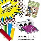 Großes Schneideplotter Set, Brother ScanNCut Hobbyplotter CM300, mit Anleitungsbuch und HW Flexfolien
