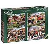 Falcon de luxe The Village Green-Puzzle in einer Box (4 x 1000 Teile)