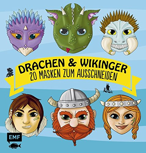 Drachen & Wikinger: 20 Masken zum Ausschneiden