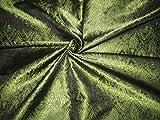 Seide Brokat Stoff grün & schwarz Victorian bro120[4]