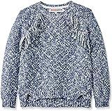 RED WAGON Mädchen Pullover Sparkle Slub Cable Knit, Violett (Multi), 134 (Herstellergröße: 9 Jahre)