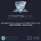 PROTOMAX Nano Antibeschlag Spray (Antifog) fürs Auto: Autoscheiben, Windschutzscheibe, Auto innen (20 ml)