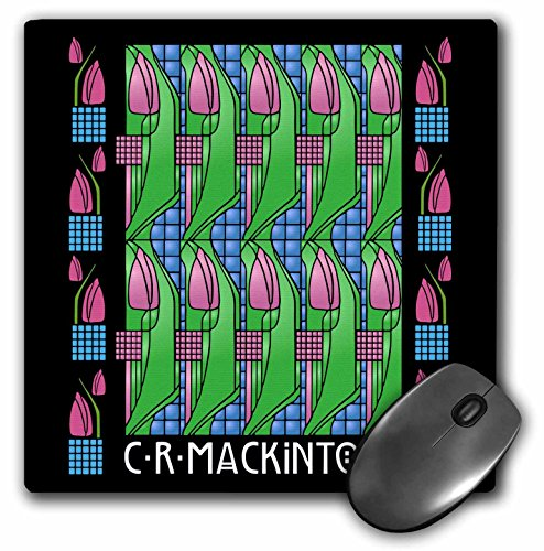 Charles Rennie Mackintosh Tulip Design in Kunst und Handwerk Stil-Maus Pad, 8von 20,3cm (MP 219142_ 1) -