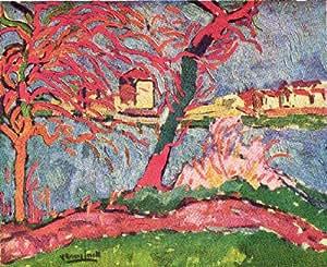 Reproduction 60 x 75cm - Maurice de Vlaminck - 1906 bords de Seine à Carrières-sur-Seine -